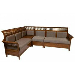 Our own Wooden Corner Sofa