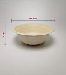 GUJARAT SHOPEE Plain Wheat Straw Bowl (500 mL), For Event, Single Side