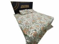 Floral Design Bed Decor Quilt With Two Pillow Cover