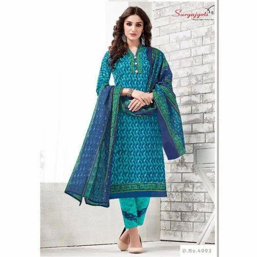 c570b14560 Cotton Party Wear Suryajyoti Fancy Churidar Suit, Rs 150 /piece | ID ...