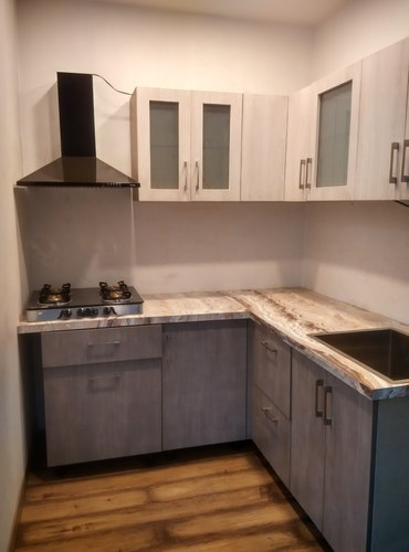 L Shape Basic Modular Kitchen, 6x6 Ft, Rs 65000 /piece