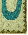 OM Patch Work Green Cotton Kantha Work Wall Art Tapestries