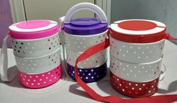 Prince Plastic Insulated Lunch Box, Capacity: 600 Ml, Size: 126 X 126 X 165 Mm