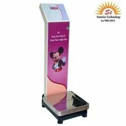 SUNRISE LED Coin Operated Weighing Scales with Printer, Maximum Capacity: 150 Kg, Manual