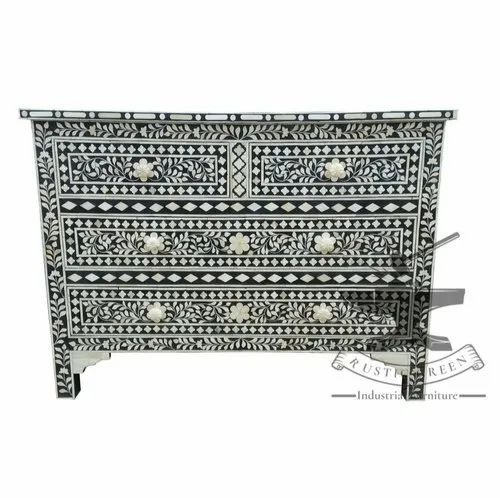 reputable site 7eb89 39568 Bone Inlay Chest Of Drawer