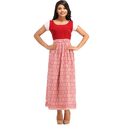 Cottinfab Women's Printed Maxi Dress