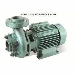 15 to 50 m 1.5 HP Monoblock Pump, Warranty: 12 months, Maximum Discharge Flow: 100 - 500 LPM