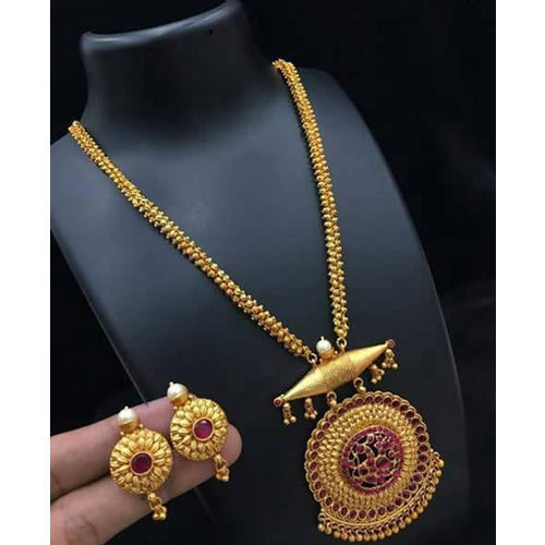 80aafdf2c3cfc7 Golden Gold Ladies Pendant Set, Rs 4000 /gram, Abhay Narayan Potdar ...