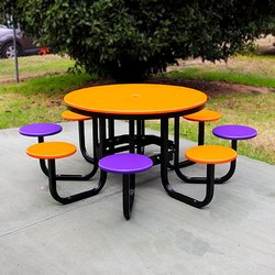 Stainless Steel Designer Canteen Table, Seating Capacity: 8 Seater