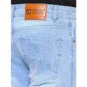 Sky Blue Cotton Jeans