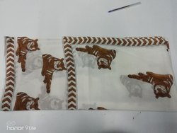Beautiful Handmade Lion Print Dupatta