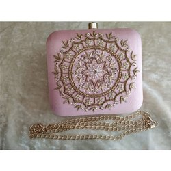 Hand Crafted Designer Zardosi Work Handbag Clutch