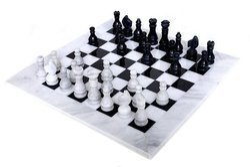 White Marble Chess Set B