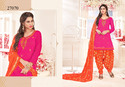 Dazzling Glaze Cotton Embroidered Punjabi Salwar Kameez