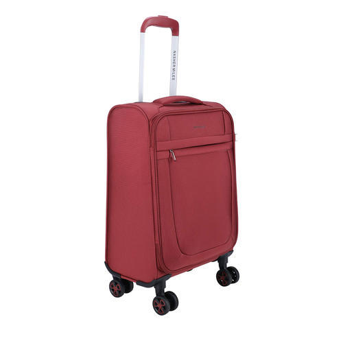Nasher Miles Polyester Equator Soft Sided Ultra Light 2 1kg Cabin Luggage Bag 18 Inch Red