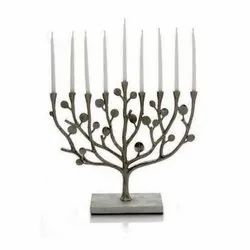 Jewish Menorah Candle Holder