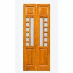 Wooden VM-2405 Ghana Teak Wood Pooja Door