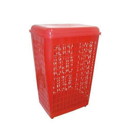 Olastic Red Plastic Laundry Basket