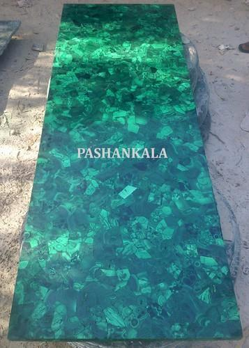 Green Natural Malachite Table Top