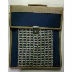 Rectangular Jute Laptop Bag