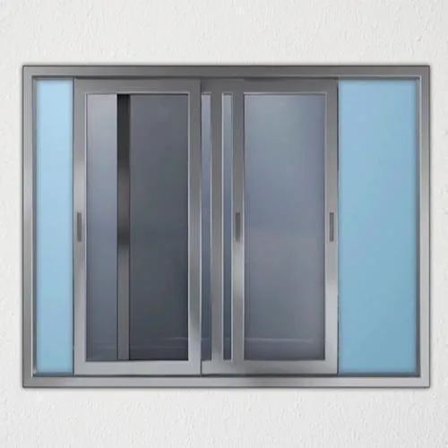Powder Coated Aluminium Sliding Window, Size/Dimension: 5 To 6 Feet(height)