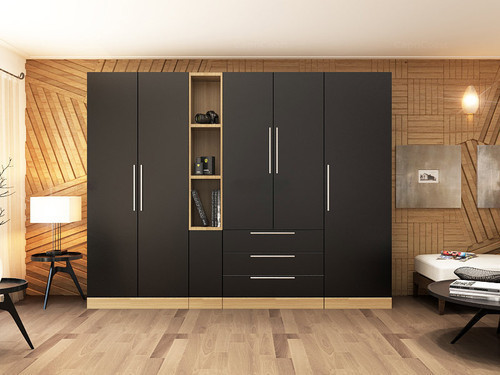 plywood modern wardrobe rs  square feet wudmen