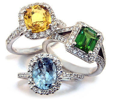 Gemstone Jewelry 925 Sterling Silver Engagement Rings For Women