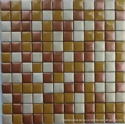 Metallic Glass Mosaic Tiles, Thickness: 5-10 mm