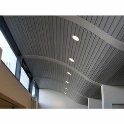 PVC Tiles Strip Ceiling Work