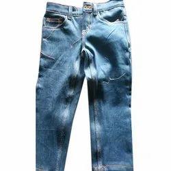 Party Wear Blue Kids Stretchable Denim Jeans, Machine Wash, Hand Wash