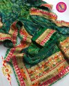 Embroidered Bandhani Saree, Length: 6.3 m