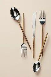 Brass Flatware Set