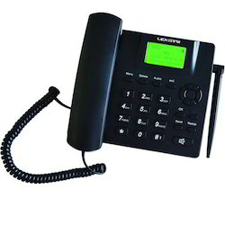 Black Lexstar Gsm Corded Telephone