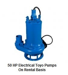 50 HP Electrical TOYO Pump On Rent