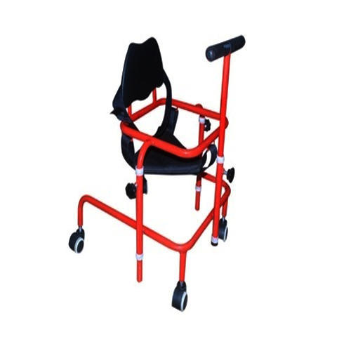 Red and Black Steel Albio CP Walker With Seating