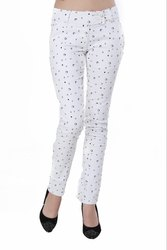 Women\'s White Casual Pant