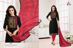 Embroidered Madhushala Salwar Suit Fabric