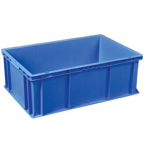Blue Rectangle Plastic Crate, Capacity: 25 Kg
