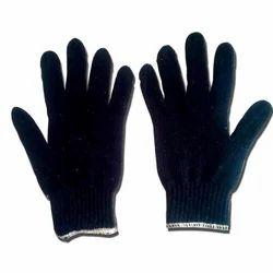 Blue & White 60 Gram Atlas Knitted Gloves, Size: 7.6 inch