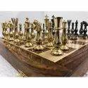 14 Brass Classical Folding Wood Chess Board
