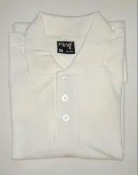 Men's Plain White Collar Tshirt
