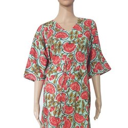 BR Enterprises Casual Wear Cotton Printed Kaftan