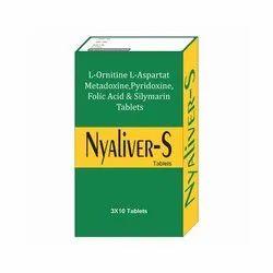 l Ornitine l Asparatat Metadoxine Pyridoxine Folic Acid and Silymarin Tablets