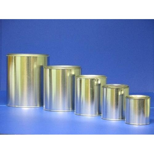 Round Tin Oil Can
