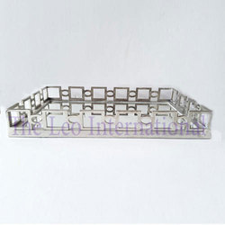 Decorative Mirror and metal Tray nickel finish