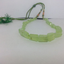 Natural Prehnite Faceted Nuggets Beads Necklace