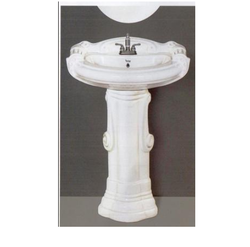 Big Sterling Wash Basin With Pedestal