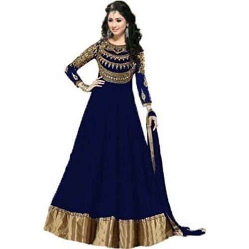 3da54f00cabd Chiffon Plain Long Frock Suit On Order, Punjabi Fashion Store | ID ...