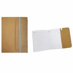 Perfect Bound A5 Brown Notebook with Elestic for Office