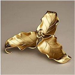 Gold Plated 3 Leaf Bowl
